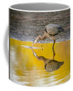 Great Blue Heron On Yellow Coffee Mug