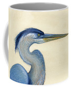 Great Blue Heron Portrait Coffee Mug