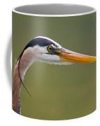 Great Blue Heron Portrait Coffee Mug