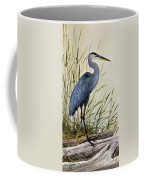 Great Blue Heron Splendor Coffee Mug by James Williamson