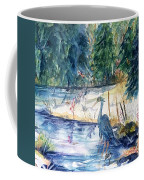 Great Blue Heron Square Cropped  Coffee Mug