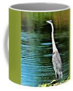 Great Blue Heron Standing Tall Coffee Mug