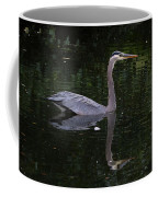 Great Blue Heron Swimming Coffee Mug