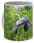 Great Blue Heron Takeoff Coffee Mug
