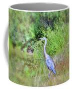 Great Blue Heron Visitor Coffee Mug