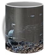 Great Blue Heron Wading 1 Coffee Mug