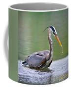 Great Blue Heron Wading Coffee Mug