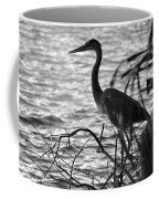 Great Blue In Black And White Coffee Mug