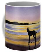 Great Dane At Sunset Coffee Mug