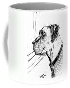 Great Dane Waiting Coffee Mug
