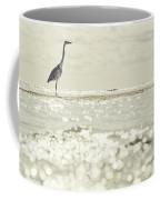 Great Egret Aka Great White Grey Heron In Maldives Coffee Mug