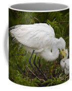 Great Egret And Chick Coffee Mug