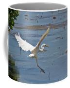 Great Egret Ascending Coffee Mug