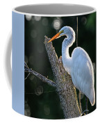 Great Egret At Rest Coffee Mug