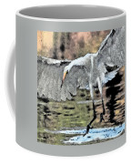 Great Egret Chase Art 9861-072316-2cr Coffee Mug
