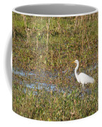 Great Egret Fishing Coffee Mug