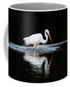 Great Egret Fishing In Early Morning Coffee Mug