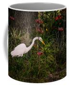 Great Egret In The Garden Coffee Mug