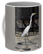Great Egret In The Neighborhood Strutting 1 Coffee Mug