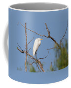 Great Egret In Tree Coffee Mug