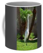 Great Egret Just Strutting Impressionism 1 Coffee Mug