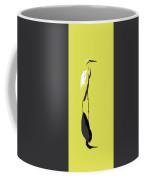 Great Egret Reflection Gold Coffee Mug
