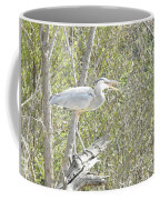 Great Heron With Mouth Open Coffee Mug