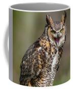Great Horned Owl Screeching Coffee Mug