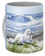 Great Pyrenees At The Beach Coffee Mug