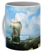 Great Roads At Kronstadt In 1836 715 H93 Ivan Konstantinovich Aivazovsky Coffee Mug