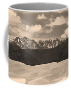 Great Sand Dunes Panorama 1 Sepia Coffee Mug