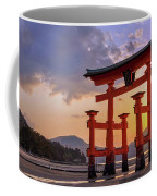 Great Torii Of Miyajima At Sunset Coffee Mug