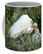 Great White Egret Family Coffee Mug