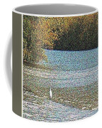 Great White Egret Fishing  Coffee Mug