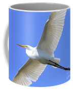 Great White Egret In Flight . 40d6850 Coffee Mug