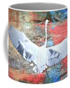 Great White Egret Landing Coffee Mug