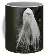 Great White Egret Windblown Coffee Mug