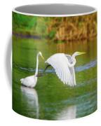 Great White Egrets Coffee Mug
