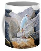 Great White Heron Of Florida Coffee Mug