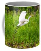 Great White Heron Takeoff Coffee Mug