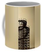 Great White Roller Coaster - Adventure Pier Wildwood Nj In Sepia Triptych 3 Coffee Mug