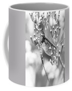 Great Wings  Black And White Dragonfly Coffee Mug