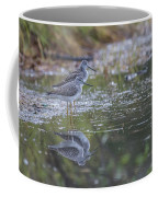 Greater Yellowlegs Reflected Coffee Mug