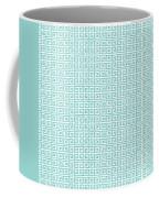 Greek Key Watercolor Pattern Beach Ocean Home Decor Coffee Mug