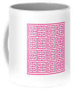 Greek Key With Border In French Pink Coffee Mug