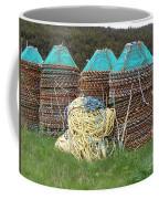 Green - Crab Pots Coffee Mug