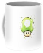 Green 1up Mushroom Coffee Mug