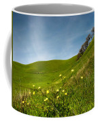 Green 4 Flowers Coffee Mug