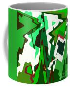 Green Abstract Squared #2 Coffee Mug