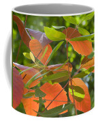 Green And Orange Leaves Coffee Mug